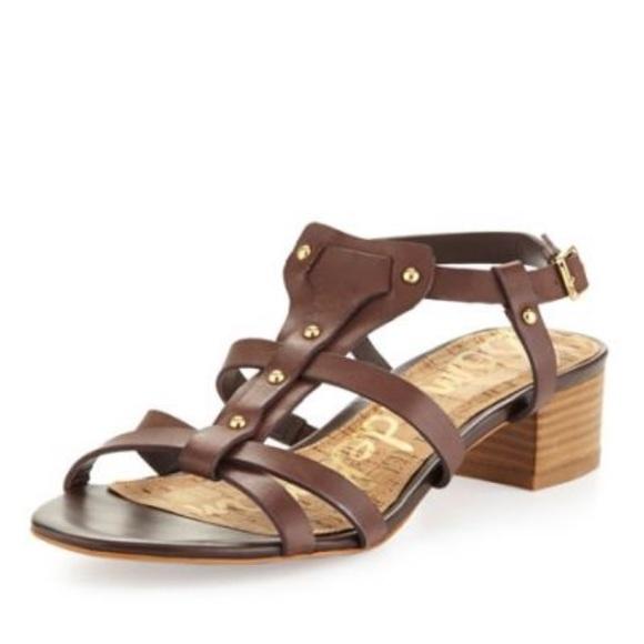 16e8b1b1deeb Sam Edelman Angela leather block heel sandals. M 5b05b853331627eaedd38044